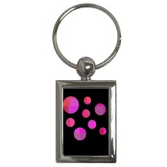 Pink abstraction Key Chains (Rectangle)