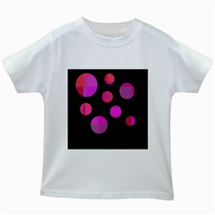 Pink abstraction Kids White T-Shirts