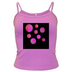 Pink abstraction Dark Spaghetti Tank