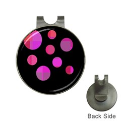 Pink abstraction Hat Clips with Golf Markers