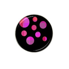 Pink abstraction Hat Clip Ball Marker