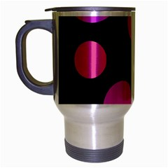 Pink abstraction Travel Mug (Silver Gray)