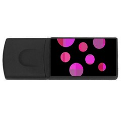 Pink abstraction USB Flash Drive Rectangular (4 GB)