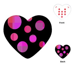 Pink abstraction Playing Cards (Heart)