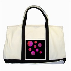 Pink abstraction Two Tone Tote Bag
