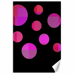 Pink abstraction Canvas 24  x 36