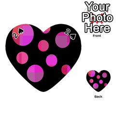 Pink abstraction Playing Cards 54 (Heart)