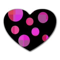 Pink abstraction Heart Mousepads