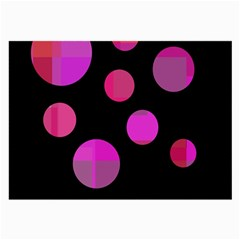 Pink abstraction Large Glasses Cloth