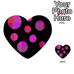 Pink abstraction Multi-purpose Cards (Heart)