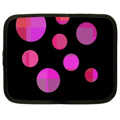 Pink abstraction Netbook Case (Large)