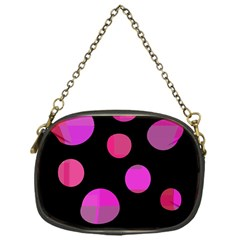 Pink abstraction Chain Purses (One Side)