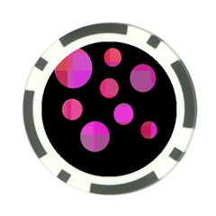 Pink abstraction Poker Chip Card Guards (10 pack)