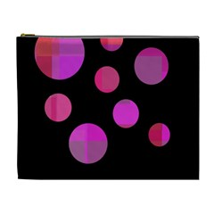 Pink abstraction Cosmetic Bag (XL)