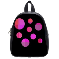 Pink abstraction School Bags (Small)