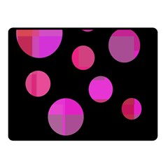 Pink abstraction Fleece Blanket (Small)