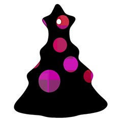 Pink abstraction Christmas Tree Ornament (2 Sides)