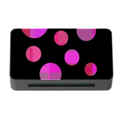 Pink abstraction Memory Card Reader with CF