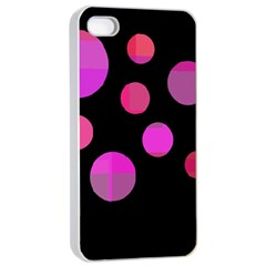Pink abstraction Apple iPhone 4/4s Seamless Case (White)