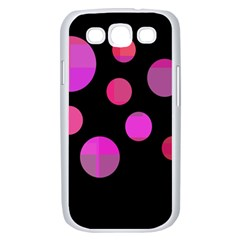 Pink abstraction Samsung Galaxy S III Case (White)