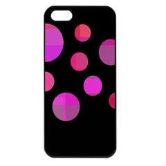 Pink abstraction Apple iPhone 5 Seamless Case (Black)
