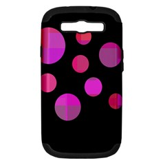 Pink abstraction Samsung Galaxy S III Hardshell Case (PC+Silicone)
