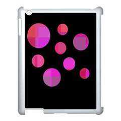 Pink abstraction Apple iPad 3/4 Case (White)