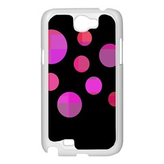 Pink abstraction Samsung Galaxy Note 2 Case (White)