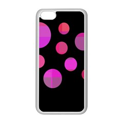 Pink abstraction Apple iPhone 5C Seamless Case (White)