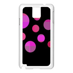 Pink abstraction Samsung Galaxy Note 3 N9005 Case (White)