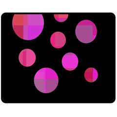 Pink abstraction Double Sided Fleece Blanket (Medium)