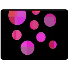 Pink abstraction Double Sided Fleece Blanket (Large)