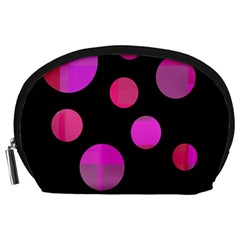 Pink abstraction Accessory Pouches (Large)