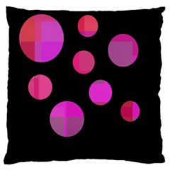 Pink abstraction Large Flano Cushion Case (One Side)