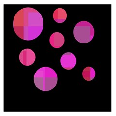 Pink abstraction Large Satin Scarf (Square)