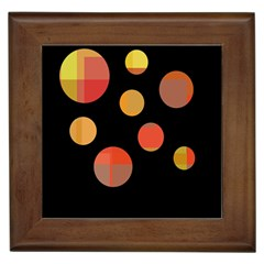 Orange abstraction Framed Tiles