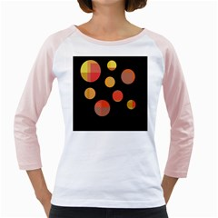 Orange abstraction Girly Raglans
