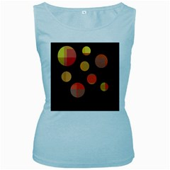 Orange abstraction Women s Baby Blue Tank Top