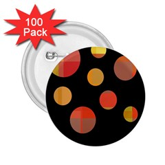 Orange abstraction 2.25  Buttons (100 pack)