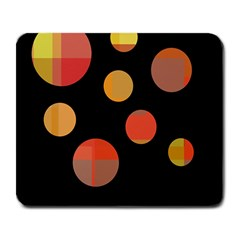 Orange abstraction Large Mousepads
