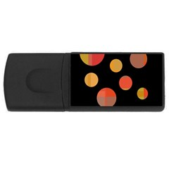 Orange abstraction USB Flash Drive Rectangular (2 GB)