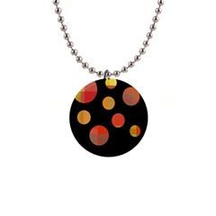 Orange abstraction Button Necklaces
