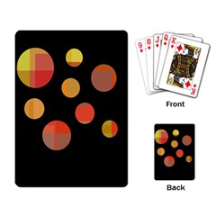 Orange abstraction Playing Card