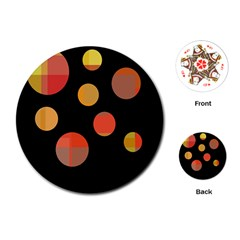 Orange abstraction Playing Cards (Round)