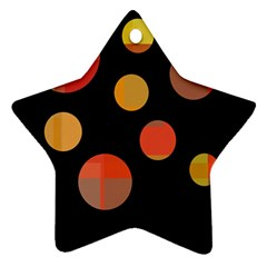 Orange abstraction Star Ornament (Two Sides)