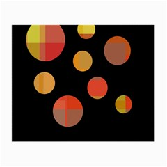 Orange abstraction Small Glasses Cloth (2-Side)