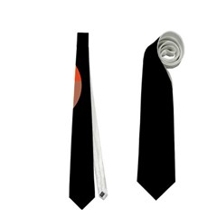 Orange abstraction Neckties (One Side)