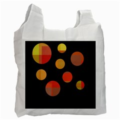 Orange abstraction Recycle Bag (Two Side)