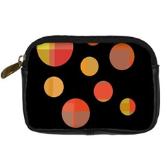 Orange abstraction Digital Camera Cases