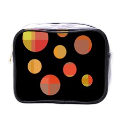 Orange abstraction Mini Toiletries Bags